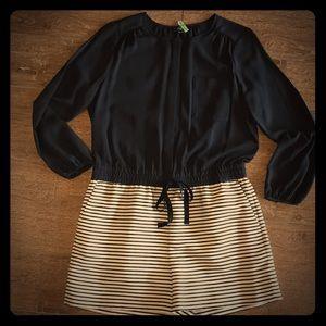 Loft sheer black short jumper